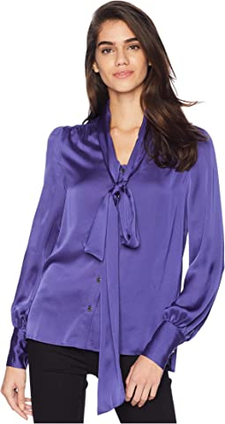 Soft Woven Satin Blouse