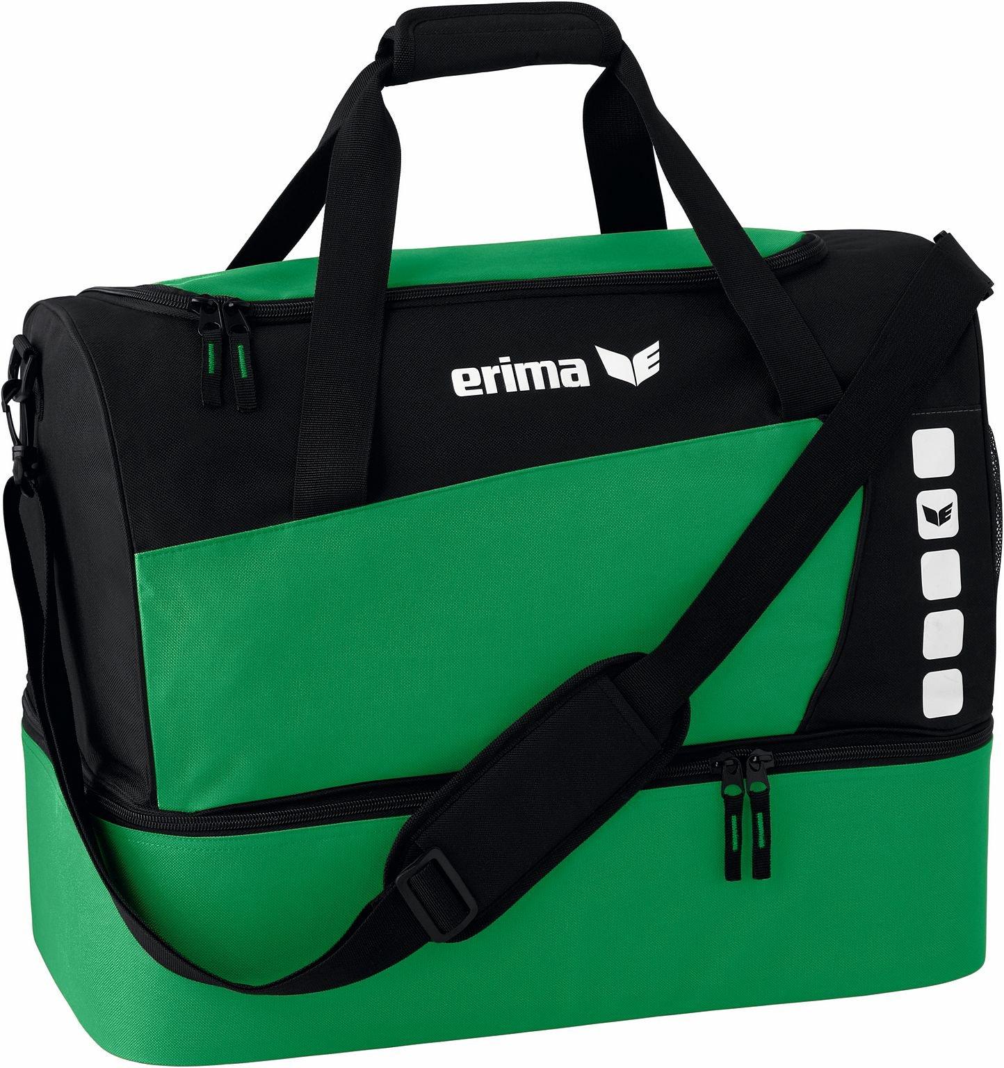 erima Sporttasche mit Bodenfach, smaragd/schwarz, L, 76 Liter, 723337