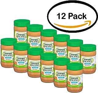 PACK OF 12 - Smart Balance Chunky Natural Rich Roast Peanut Butter 16 oz. Jar
