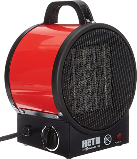 HETR 5120 BTU 120V /60 Hz/1500 Watt Forced Air Ceramic Element and Overheat Protection Portable Space Heater Red: image