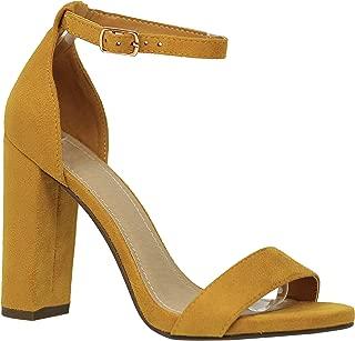 Shoes Women's Open Toe Chunky Heel Strappy Heeled Sandal