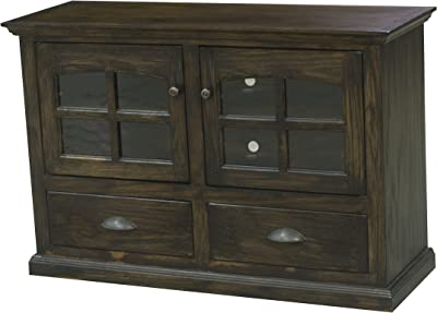 """Eagle Modern Country Oak Entertainment Console, 48"""", Concord Cherry Finish"""