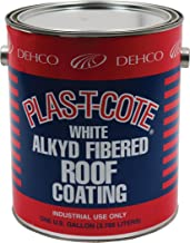 Heng's 16-45128-4 Alkyd Fibered Roof Coating, White-1 Gallon
