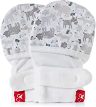 Goumimitts, Scratch Free Baby Mittens, Organic Soft Stay On Unisex Mittens, Stops Scratches and Prevents Germs