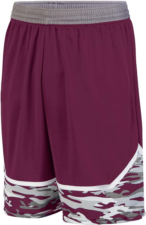 Augusta Sportswear Boys' Mod Camo Game Short M Maroon Graphite White