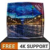 無料の仮想雨の道HD-HDR 4K TV、8K TVの美しい景色を壁紙として、クリスマス休暇の装飾、調停と平和のテーマとしてお楽しみください
