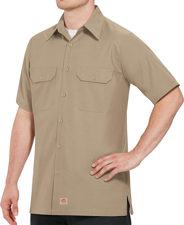 Red Kap Men's Solid Rip Stop Shirt