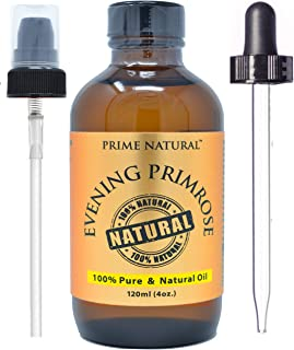 Prime Natural Evening Primrose Oil- Refined (4oz/120ml) for Skin, Hair, Nails and Joint Pain
