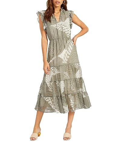 BB Dakota by Steve Madden Mixed Bag Dress Printed Chiffon Woven Dress