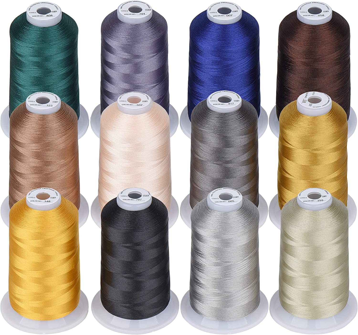 Simthread 12 Max 40% OFF Brother Colors of Embroi 5000M Huge Limited time cheap sale Spool Polyester