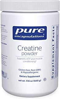 Pure Encapsulations Creatine Powder | Creatine Monohydrate Workout Supplement for Muscle Building and Recovery, Exercise, ...