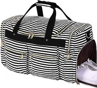 94a0ba03b Weekender Overnight Duffel Bag Shoe Pocket for Women Men Weekend Travel Tote  Carry On Bag (