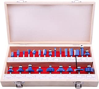 LU&MN Carbide Tipped Router Bit Set (24 PCS) with 1/4