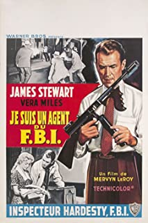 The FBI Story 1959 Belgian Poster