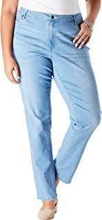 Women's Plus Size Straight-Leg Jean with Invisible Stretch