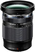 Olympus M.Zuiko - Objetivo digital ED 12 - 200 mm F3.5 - 6.3, zoom estándar, apto para todas las cámaras MFT (modelos olympus OM - D & Pen, serie G de Panasonic), negro