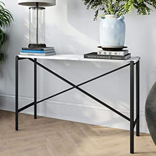 Henn&Hart Black and Marble console table