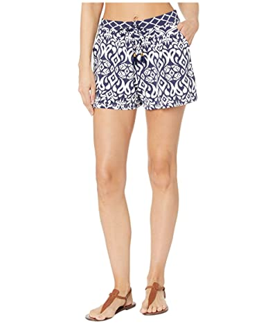 Tommy Bahama Ikat Diamonds Pull-On Shorts Cover-Up (Mare Navy) Women