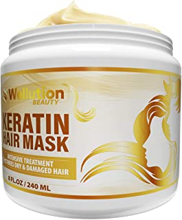 Keratin Hair Mask - Intensive Restoration Treatment for Dry or Damaged Hair - Advanced Keratin Formulation Provides Hair w...