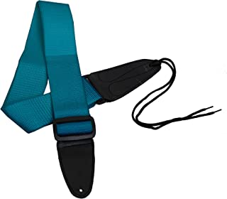 Performance Plus GS1T Electric or Acoustic Teal Guitar Strap Including Ties for Acoustics