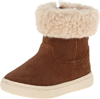 POLO RALPH LAUREN Kids Shelly Bootie Boot (Toddler/Little Kid),Snuff/Cream,8 M US Toddler