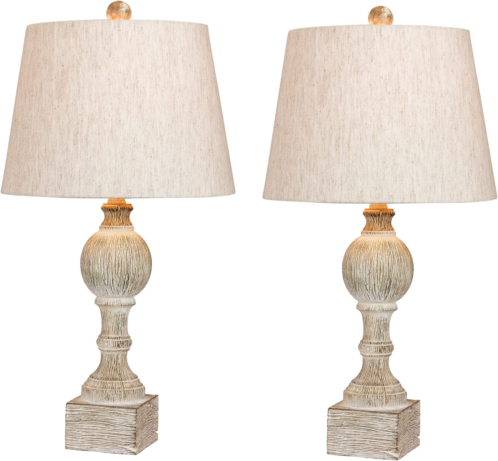Vintage White /& Yellow Laura Ashley Wood Candlestick Table Lamps Set of 3