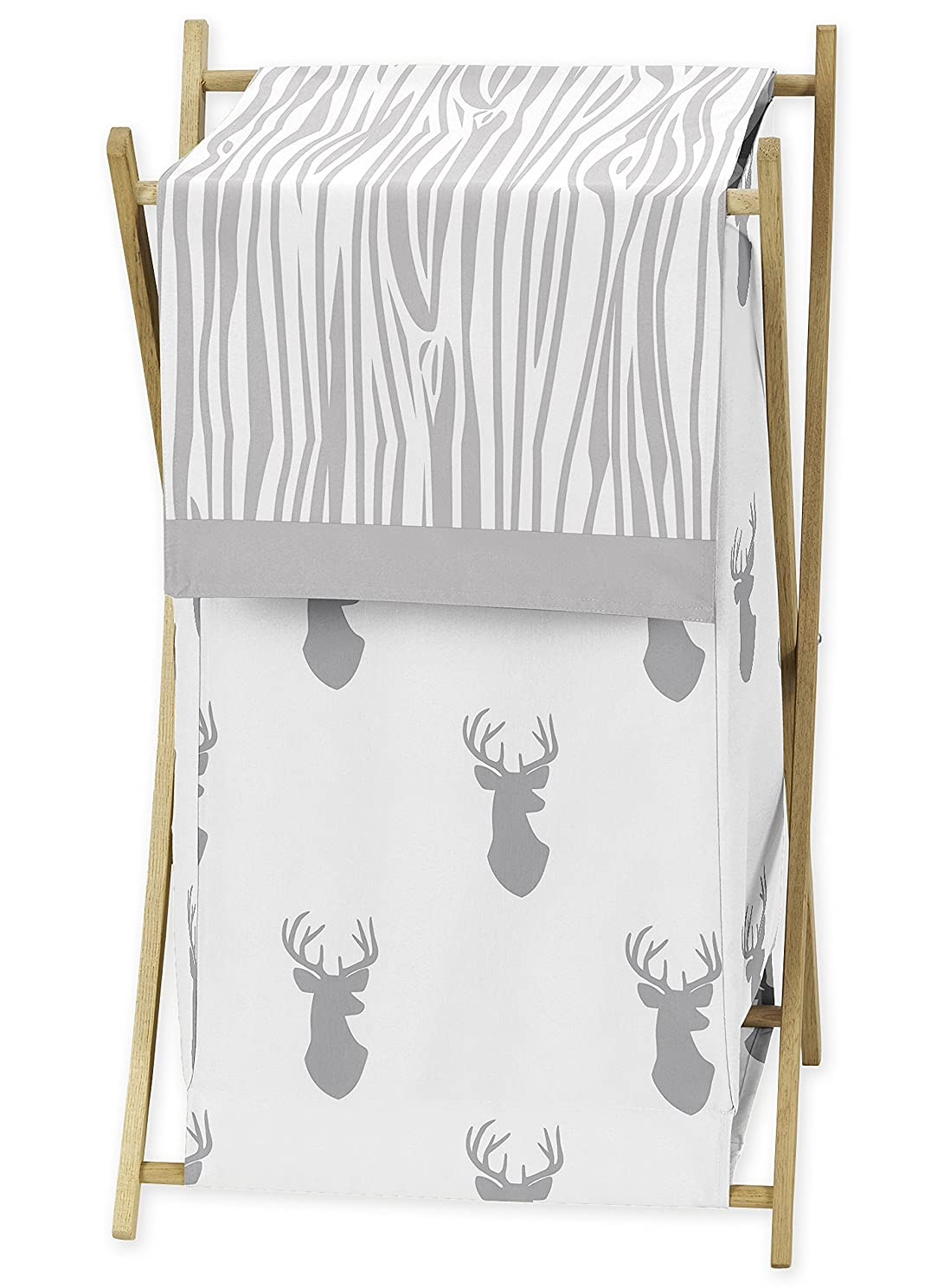 Sweet Jojo Designs Baby Children Kids Clothes Laundry Hamper for Grey and White Woodland Deer Bedding Set
