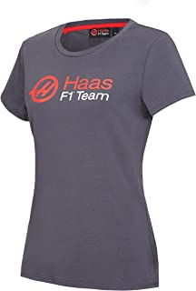 American Team Formula 1 Motorsports Women's Authentic Gray Logo T-Shirt