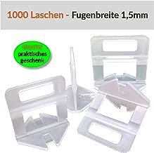 100 St/ück wiederverwendbare Fliesen Spacer f/ür Fliesenausgleich Fliesen Nivelliersystem Kit 2 St/ück Spezialschl/üssel