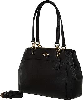 Womens Mini Brooke Carryall Handbag, Signature Crossgrain Leather, Detachable Crossbody Strap