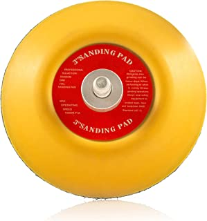 GP12710 Hook and Loop Rotary Backing Pad with 1/4''-20 Thread, Sanding or Polishing Backer Pad/Diameter 3 inch
