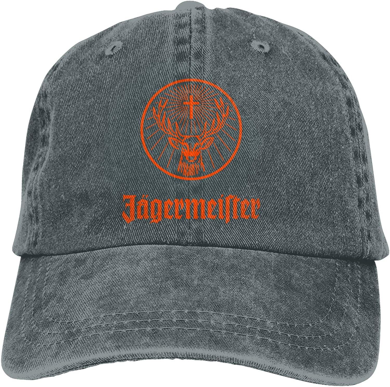 Denim Cap Jagermeister Baseball Dad Cap Classic Adjustable Casual Sports for Men Women Hats