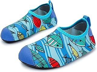 Kids Swim Water Shoes Barefoot Aqua Socks Shoes for Beach Pool Surfing Yoga