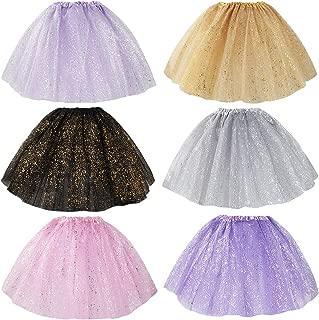 6pc Girls Ballet Tutu Kids Birthday Princess Party Favor Dress Skirt Set