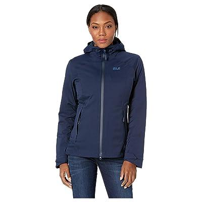 Jack Wolfskin Aurora Sky 3-in-1 Waterproof Jacket (Midnight Blue) Women
