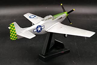 WWII US Aircraft 1/72 P51 Mustang 55FG Fighter Plane Non diecast Airplane Collection Easy Model Pre-builded