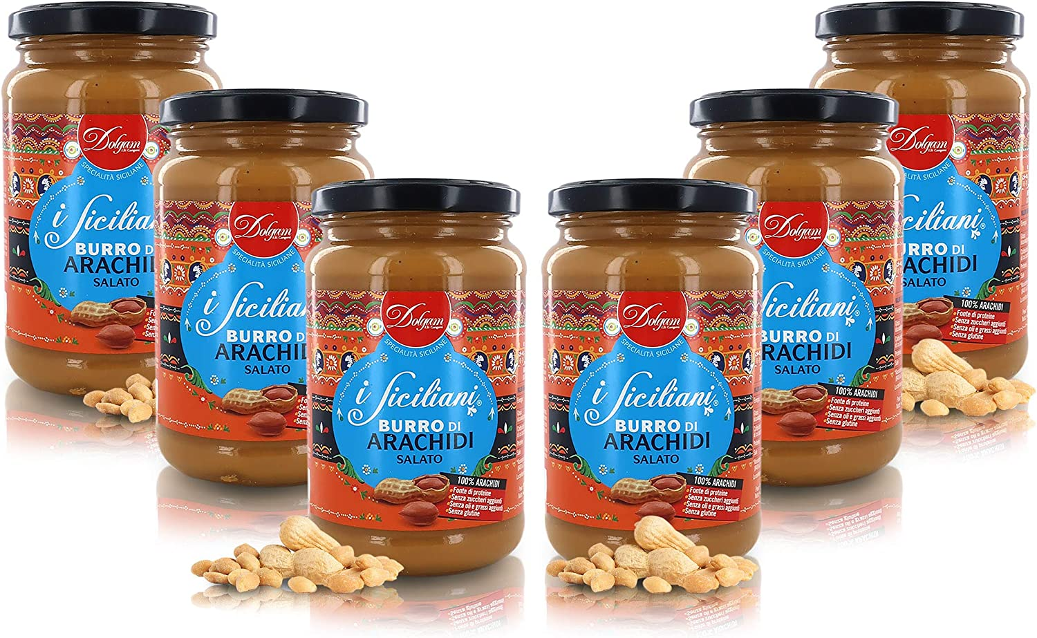 Dolgam Salted Peanut Butter Made in San Jose Mall Italy Eac Oz Jars Fresno Mall 6 13.22