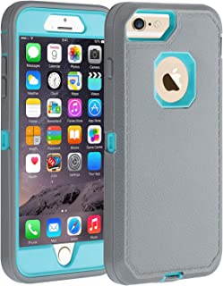 Co-Goldguard iPhone 6/6s Case,[Heavy Duty] [Litchi Pattern Series] Armor 3 in 1 Rugged Cover with Front Frame Shockproof Drop-Proof Tough Shell Case for Apple iPhone 6/6s 4.7 inch (Grey/Green)
