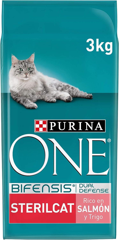 PURINA ONE Bifensis Pienso para Gatos Esterilizados Salmón y Trigo 4 x 3 Kg