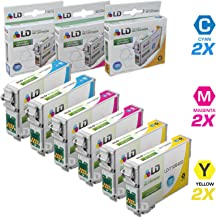 LD Remanufactured Ink Cartridge Replacement for Epson 126 (2 Cyan, 2 Magenta, 2 Yellow, 6-Pack)