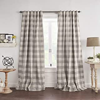 Elrene Home Fashions Grainger Buffalo Check Blackout Window Curtain Panel, 52