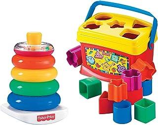 Fisher-Price Primeros bloques del bebé y juego de rocas apilables