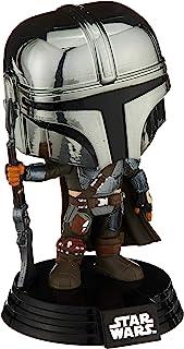 Funko Pop! Star Wars: The Mandalorian - Mandalorian (Chrome), Exclusivo de Amazon, Multicolor