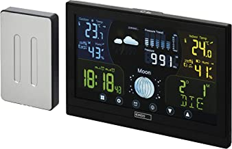EMOS E6018 Draadloos weerstation met buitensensor en kleurendisplay met touchscreen, voeding, 13 functies: thermometer, hy...