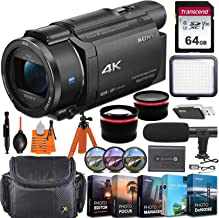 Sony FDR-AX53 4K Ultra HD Video Recording Handycam Camcorder + Vlogging Pro Bundle incl...