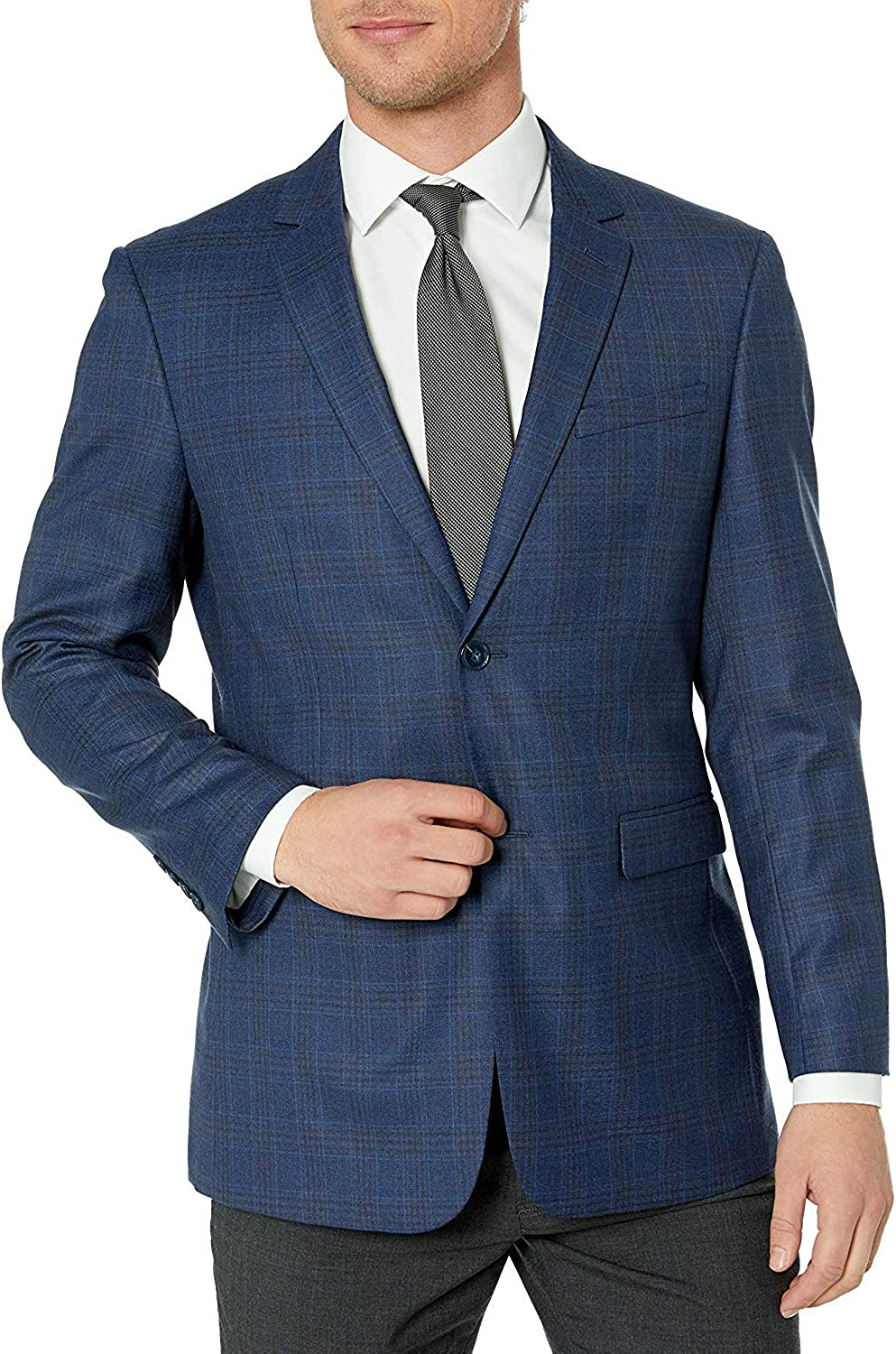Adam Baker Men's Single Breasted 100% Wool Ultra Slim Fit Blazer/Sport Coat - Many Styles and Colors