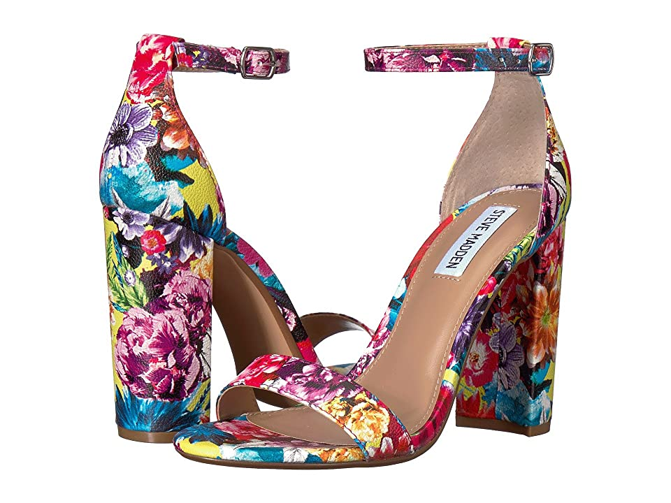 Steve Madden Carrson Heeled Sandal (Flower Multi) High Heels