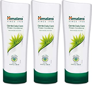 Himalaya Gentle Daily Care Protein Conditioner for Smooth, Shiny, Tangle-Free Hair, 6.76 oz, 3 Pack