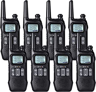 Retevis RT16 2 Way Radio Rechargeable FRS Dual Watch Dual Display FM Flashlight 121 Privacy Codes VOX Security NOAA Walkie Talkie for Adult (8 Pack)