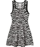 Abstract Zebra Fit-and-Flare (Big Kids)